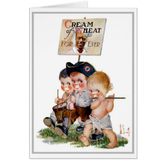 """MARCHING BAND"" CREAM OF WHEAT AD GREETING CARD"