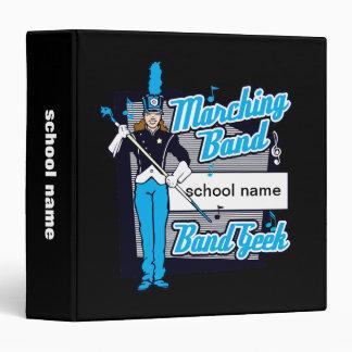Marching Band Geek Light Blue 3 Ring Binder