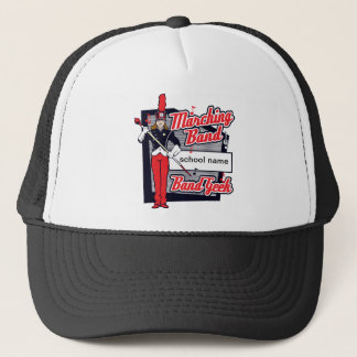 Marching Band Geek Red Trucker Hat