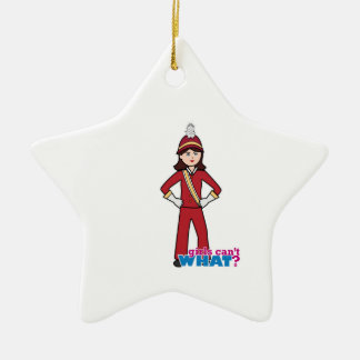 Marching Band Girl Ceramic Ornament
