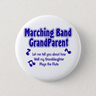Marching Band Grandparent 2 Inch Round Button