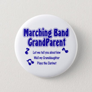 Marching Band Grandparent/ Clarinet 2 Inch Round Button