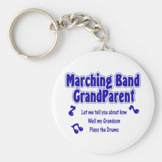 Marching Band Grandparent/ Drums Keychain