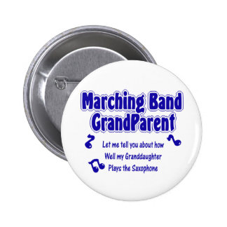 Marching Band Grandparent/ Saxophone 2 Inch Round Button