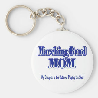 Marching Band Mom/ Sax Basic Round Button Keychain