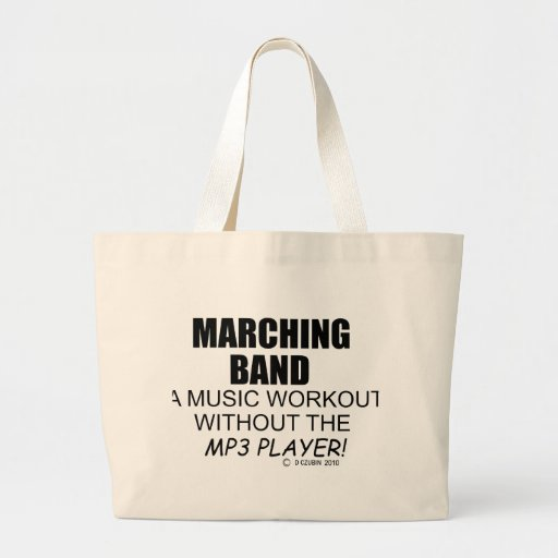 Marching Band Music Workout Canvas Bags