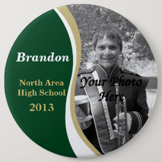 Marching Band Photo 6 Inch Round Button