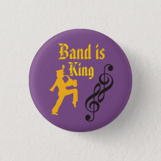 Marching band Purple and gold button