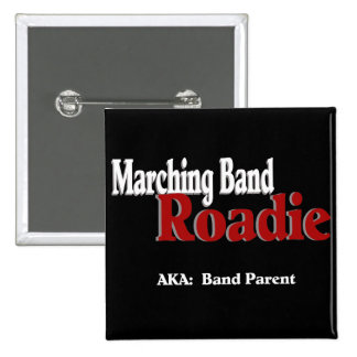Marching Band Roadie Pinback Buttons