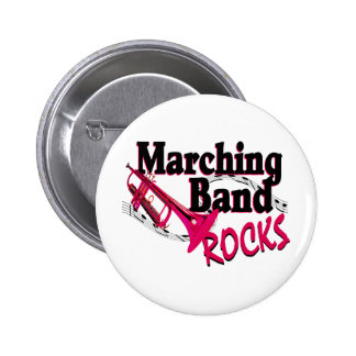 Marching Band Rocks 2 Inch Round Button