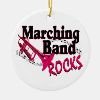 Marching Band Rocks Ceramic Ornament
