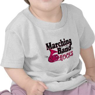 Marching Band Rocks/ french horn Tees