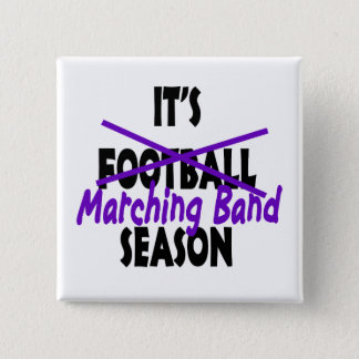 Marching Band Season/ Purple 2 Inch Square Button