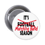 Marching Band Season / Red Pinback Buttons