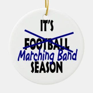 Marching Band Season Round Ceramic Ornament