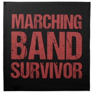 Marching Band Survivor Napkin