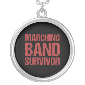 Marching Band Survivor Silver Plated Necklace