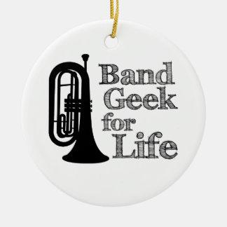 Marching Baritone Band Geek Ceramic Ornament