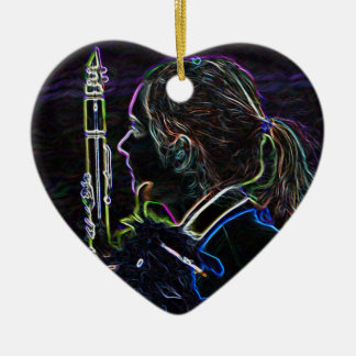 Marching Clarinetist Heart Ornament
