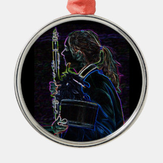 Marching Clarinetist Premium Round Ornament