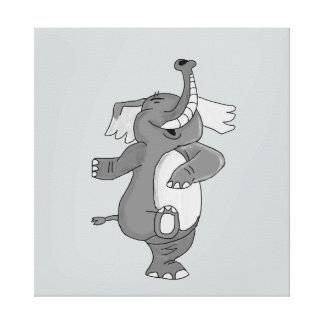 Marching elephant stretched canvas prints