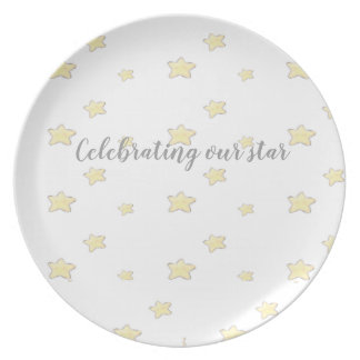Marching Flamingos Plate