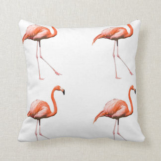 Marching Flamingos Throw Pillow