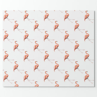 Marching Flamingos Wrapping Paper