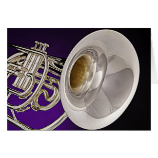 Marching French Horn Greeting Cards