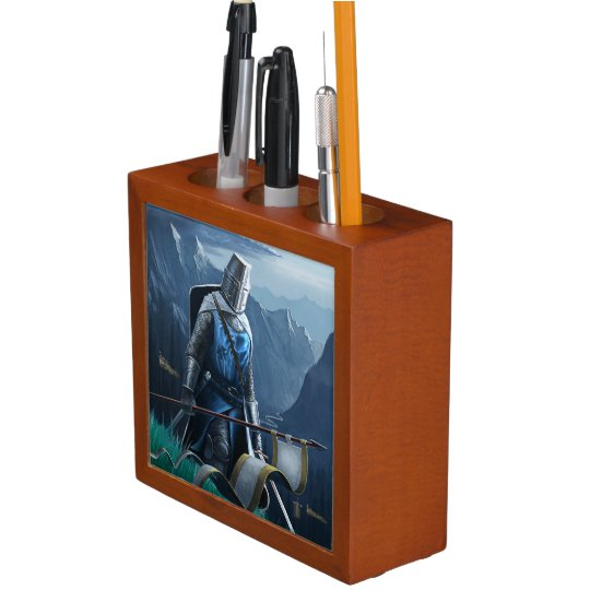 Marching Knight desk organizer