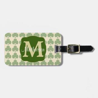 Marching Shamrocks Monogram Luggage Tag