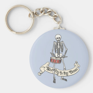 Marching Snare Drum Skeleton Basic Round Button Keychain