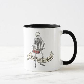 Marching Snare Drum Skeleton Mug