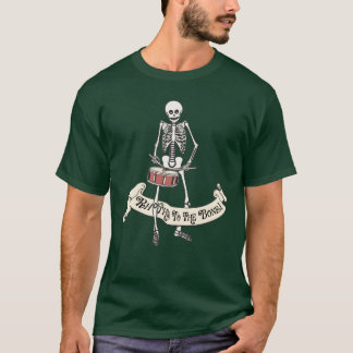 Marching Snare Drum Skeleton T-Shirt