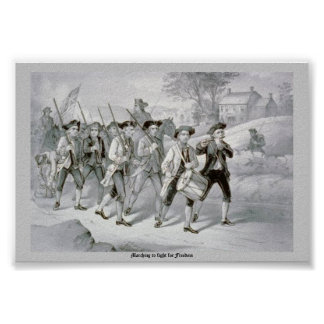 Marching to fight for Freedom Poster