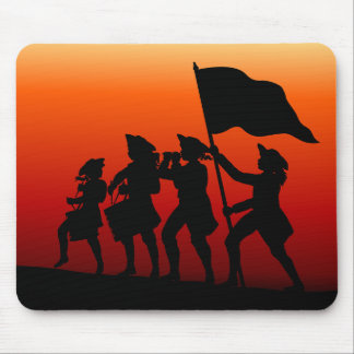 Marching with drums and fife and flag mouse pad