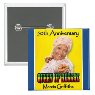 Marcia Griffiths the Reggae Queen-50th Anniversary 2 Inch Square Button