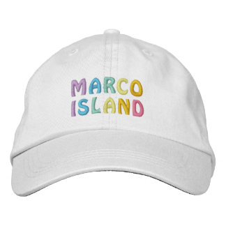 MARCO ISLAND cap Embroidered Baseball Cap