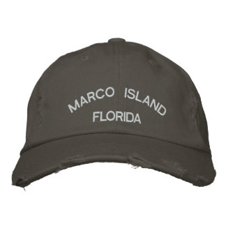 Marco Island Embroidered Baseball Cap