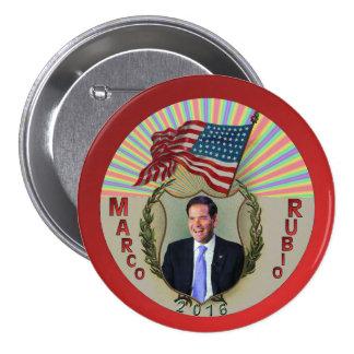 Marco Rubio 2016 3 Inch Round Button