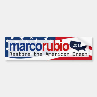 Marco Rubio 2016 American Dream Bumper Sticker
