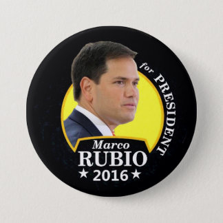 Marco Rubio 2016 for President 3 Inch Round Button