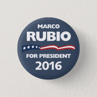 Marco Rubio for president 2016 1 Inch Round Button