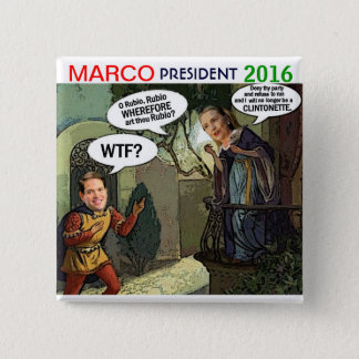 Marco Rubio for President 2016 2 Inch Square Button