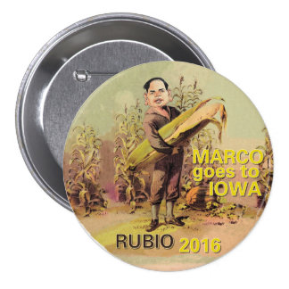 Marco Rubio for President 2016 3 Inch Round Button