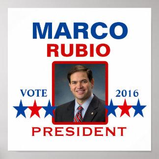 Marco Rubio for President 2016 Poster
