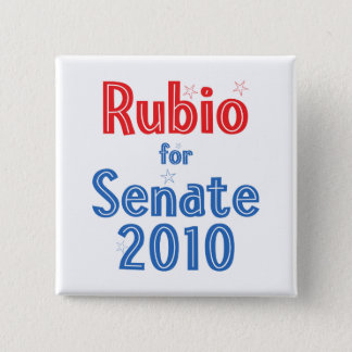Marco Rubio for Senate 2010 Star Design 2 Inch Square Button