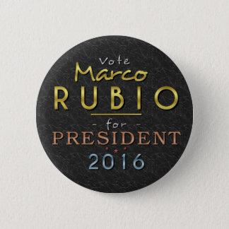 Marco Rubio President 2016 Gold Black Classy 2 Inch Round Button