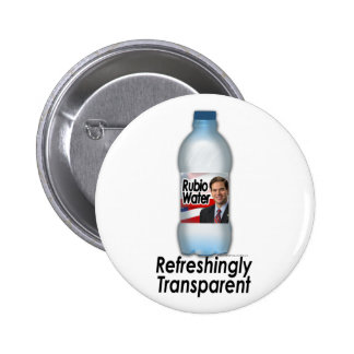 Marco Rubio Water, Refreshingly Transparent 2 Inch Round Button