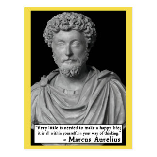 Marcus Aurelius 'Happy life' Quote Postcard